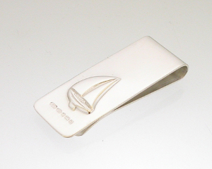 Sailing boat money clip
