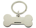View Silver Dog Bone Keyring in detail