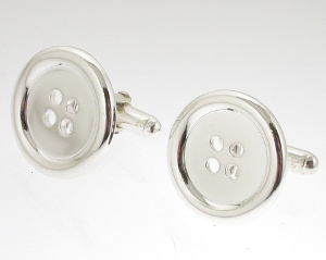 Silver Button Cufflinks