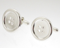 View Silver Button Cufflinks in detail
