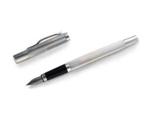 Sterling Silver Earl Pens Detailed Fountain Pen