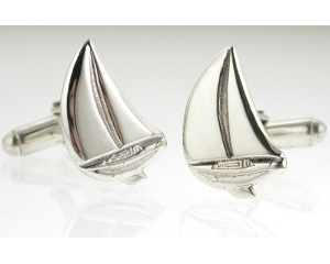 Sailing Cufflinks in Sterling Silver