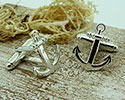 View Anchor Shaped Silver Cufflinks in detail