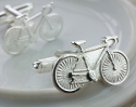 View Silver Bicycle Cufflinks in detail