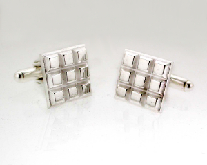 Silver Chocolate Cufflinks