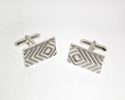 View Silver Diamond Doppler Cufflinks in detail
