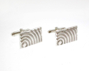 View Silver Round Doppler Cufflinks in detail