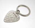View Silver Hammered Effect Plectrum Keyring in detail