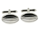 View Silver Rugby Cufflinks in detail