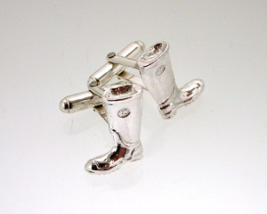 Silver Welly cufflinks